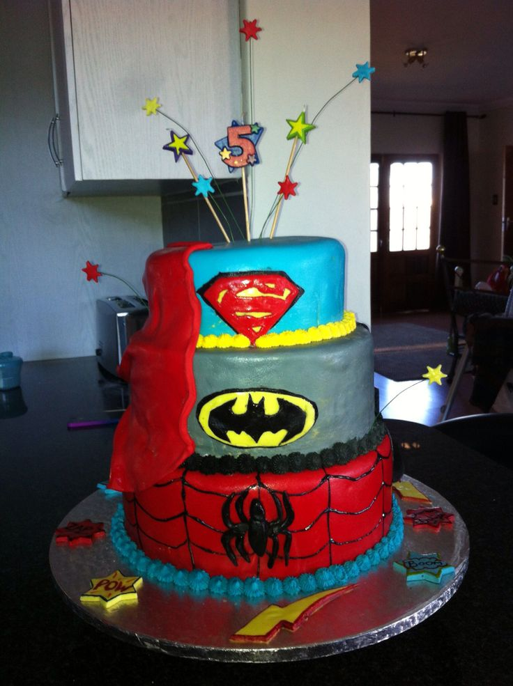 #superhero#boys#birthdaycake
