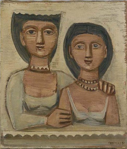 Massimo Campigli, Due donne