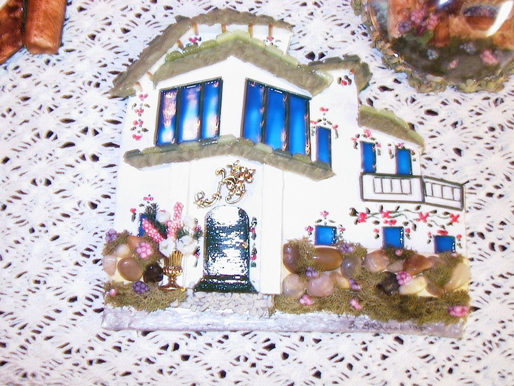 Italian house by Barb.  Made from Sculpy.