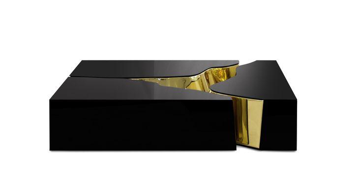 J. Emmanuel Lapiaz Center Table  #Jemmanuel #furniture #table #unique #modern #coffee #limestone #luxury #brass #interior #design