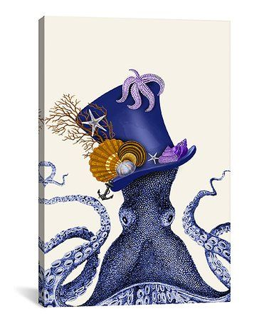 This Octopus Nautical Hat Gallery-Wrapped Canvas is perfect! #zulilyfinds