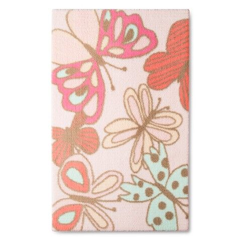 The Pillowfort Butterflies Accent Rug at Target looks great in any child's room that has a garden or insect theme.