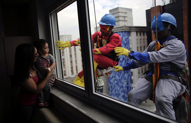 Batman and The Flash wow sick children in Brazil