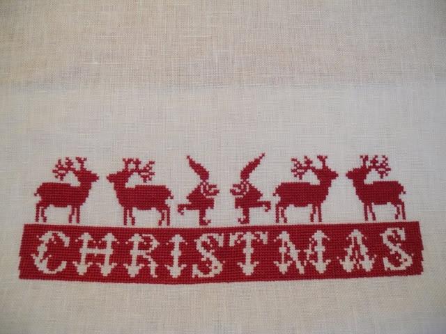 Weihnachtsstickerei