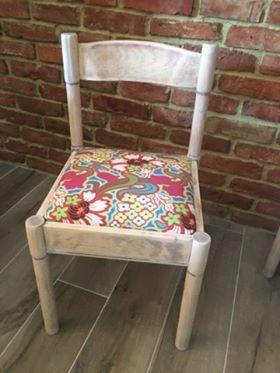 Metamorfoza krzesła, którą przeprowadziła pani Eliza z pomocą tkaniny z kolekcji Soul Blossoms zaprojektowanej przez Amy Butler