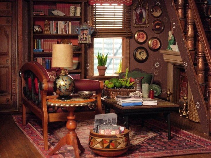Dollhouse Miniature Living Room