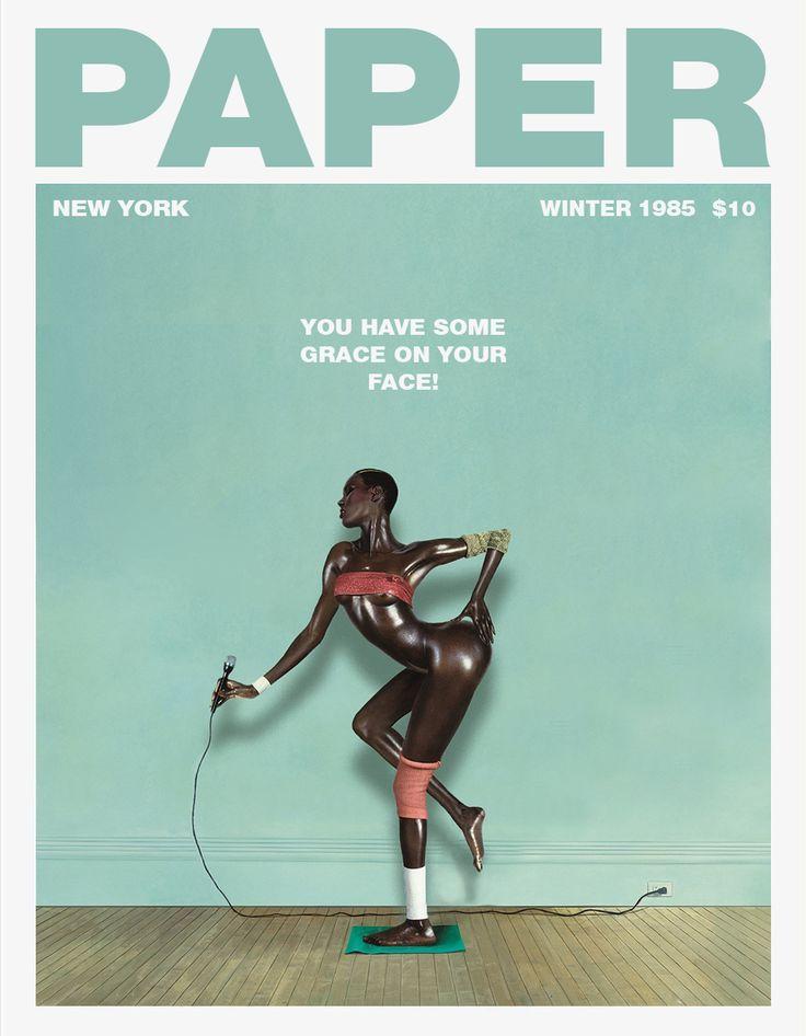 Paper magazine cover
