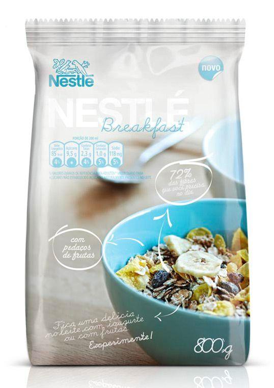 Packaging Nestlé Breakfast #food #packaging #alimentaire