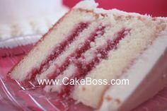 CakeBoss Raspberry filling.   12oz frozen rasperries thawed,1/2c sugar, 1tsp lemon juice, 2tbs cornstarch, 2tbs raspberry liqueur (ex, razzmatazz). Directions in the link!