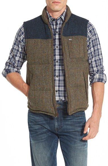 Timberland 'Bolton Mountain' Colorblock Quilted Down Vest
