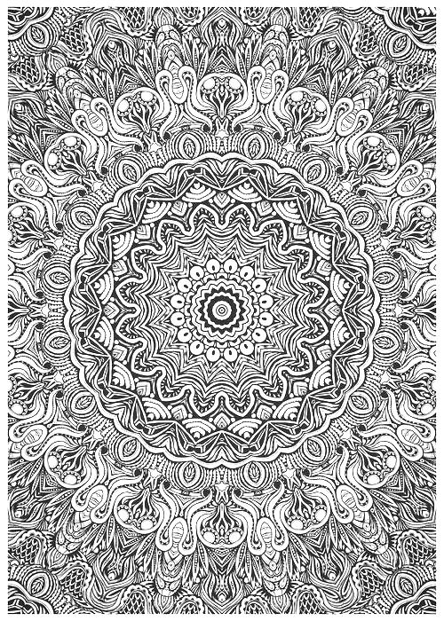 ➳➳➳☮American Hippie Art - Zentangle Coloring Page .. Mandala