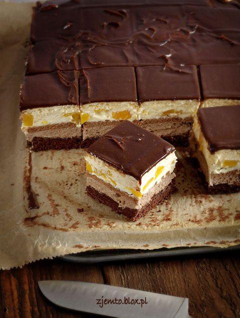 Chocolate & Orange cream cake bars