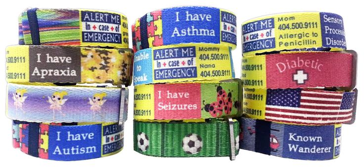 Alert Me Bands. Special Needs. Allergies. Safety. SPD. Sensory Processing Disorder Parent Support. Autism.