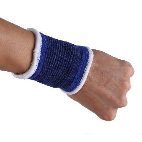 Free Shipping 2 x Elastic Sport Sweatbands Wrist Sweat Bands Fitness GYM Wristband/Ankle/Leg/Hand Band Sporta Safety Optional