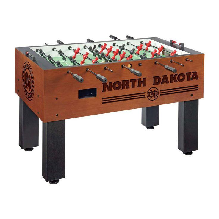 North Dakota Fighting Hawks Laser Engraved Foosball Table Soccer