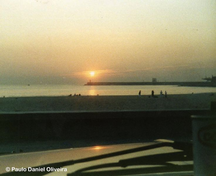 Sunset at Praia de Matosinhos from the old Datsun 1200