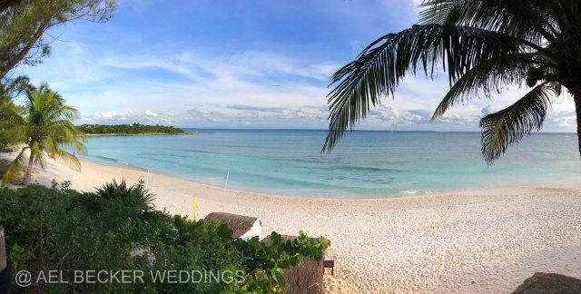 View from Hotel Esencia, Xpuha Beach, Mexico. Ael Becker Weddings