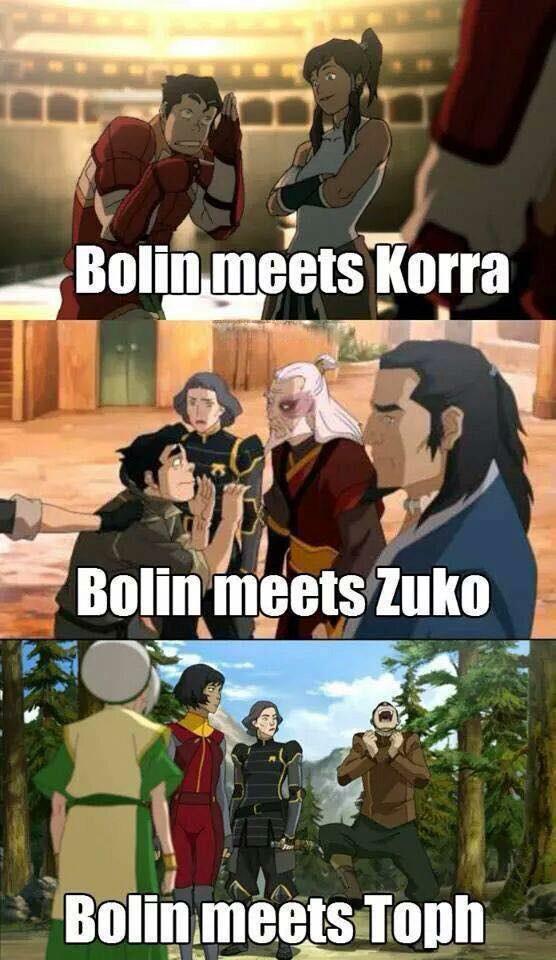 Fanboy Bolin :) ----- avatar legend of korra , Toph beifong , lord zuko , lin beifong , opal beifong