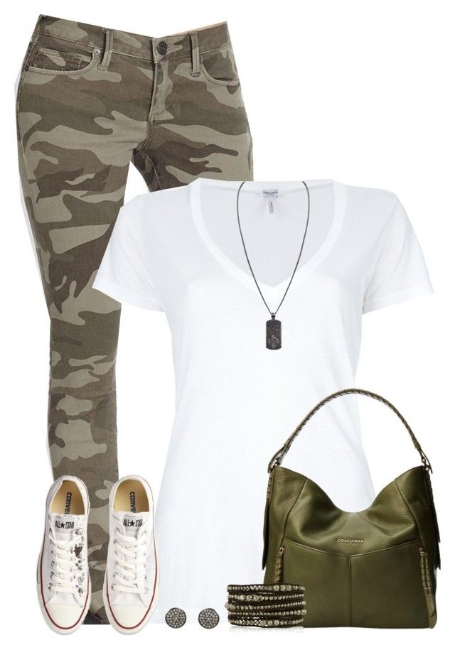 """Camo pants"" by cindycook10 ❤ liked on Polyvore featuring True Religion, Splendid, Converse, Cole Haan, Chan Luu, ADORNIA, StreetStyle and camo"