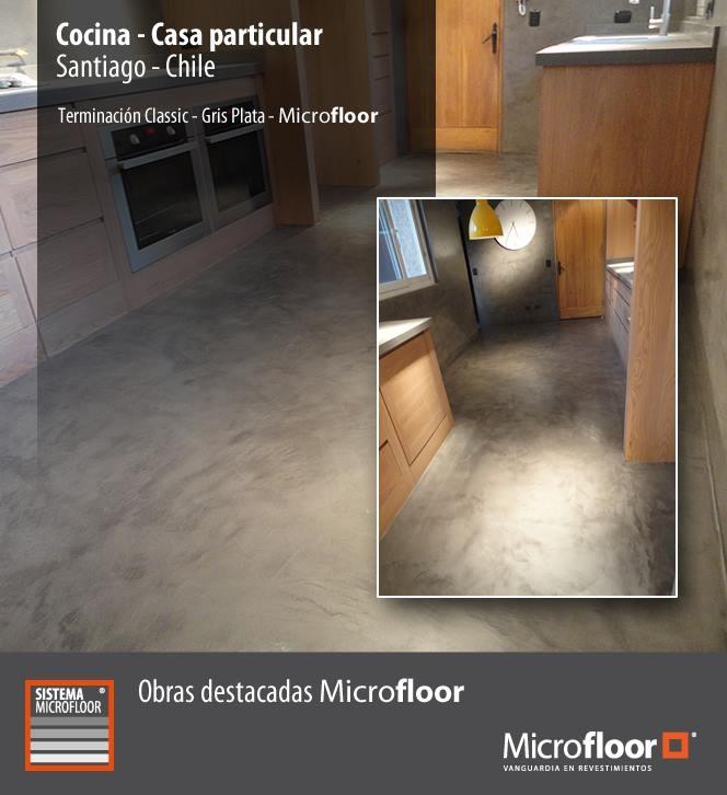 Cocina - Pavimento y muros revestimiento en microcemento Microfloor Línea Classic