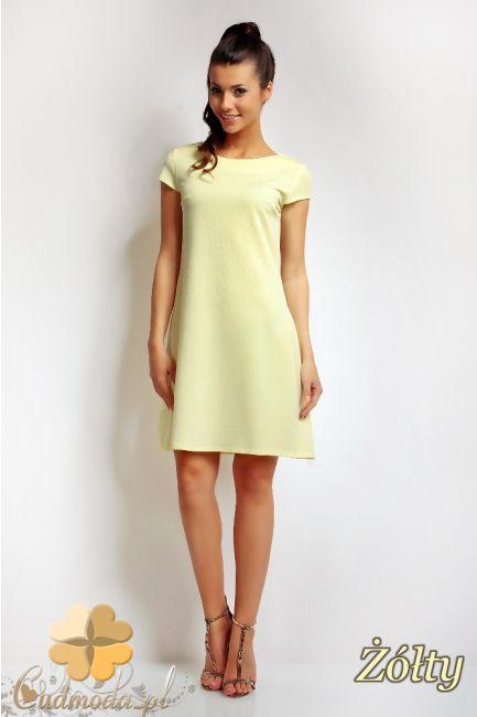 Sukienka mini z dekoltem w łódkę marki Karen Styl.  #cudmoda #moda #ubrania #odzież #clothes #dresses #sukienki #glamour #fashion