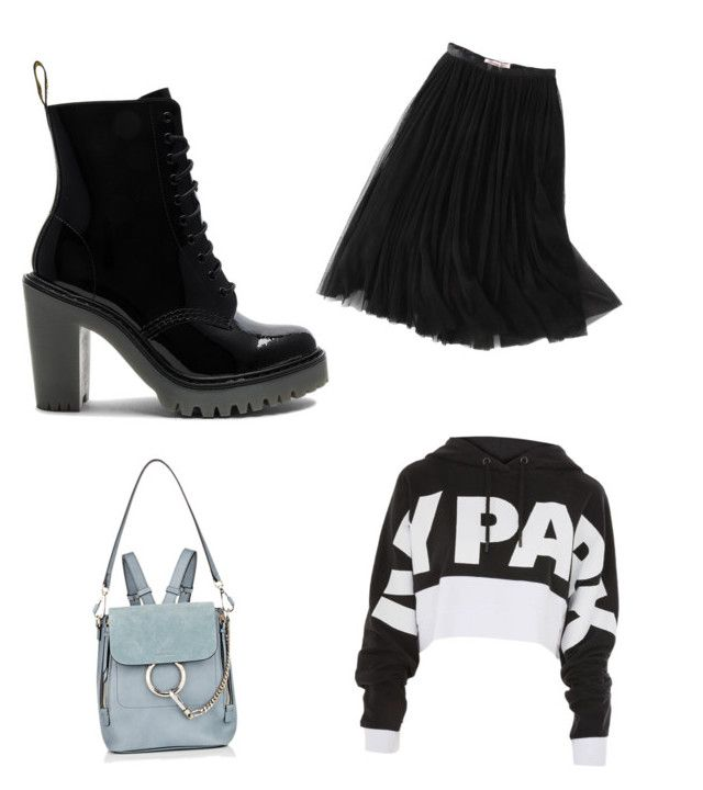 """""""Untitled #27"""" by diaa-badea ❤ liked on Polyvore featuring Dr. Martens, WithChic, Chloé and Topshop"""