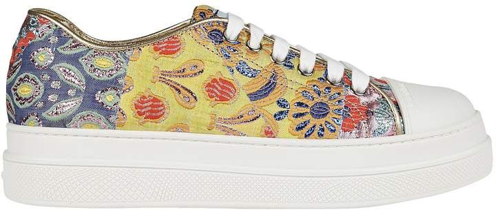 Prada Floral Embroidery Sneakers