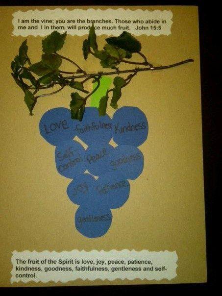 136 best fruit of the spirit images on pinterest crafts for Vine craft ideas