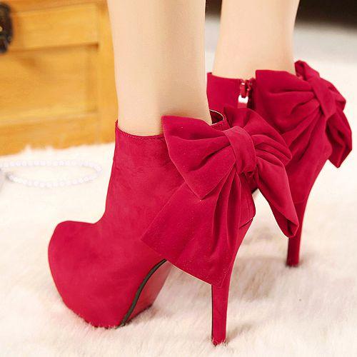 Hot Red Boots - HeelsFans.com