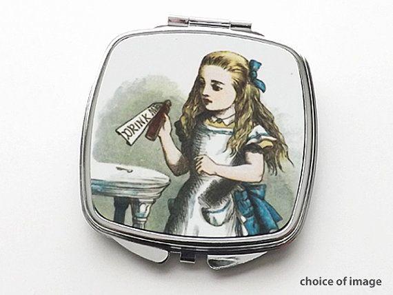 Alice im Wunderland-COMPACT-Spiegel 1 Partei von artaltered auf Etsy