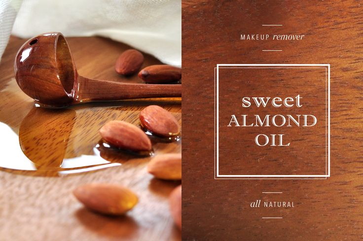 Use sweet almond oil as natural make-up remover by El_Fait www.elfait.com