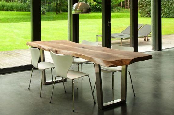 Aranżacja jadalni, czyli stół z jednego kawałka drewna