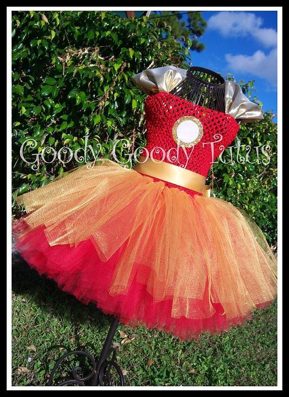 IRON LADY Ironman Inspired Tutu Dress by goodygoodytutus