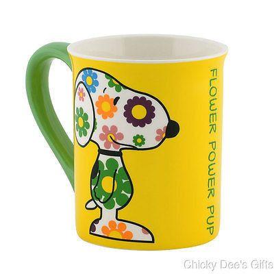 Peanuts Mug Snoopy Flower Power 4040295 16 Oz Coffee Cup