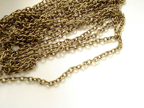 Check out this item in my Etsy shop https://www.etsy.com/au/listing/79787253/3meter-99ft-antiqued-bronze-metal-chain