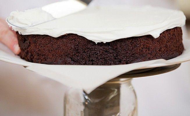 Turn a mason jar into a rotating cake stand!