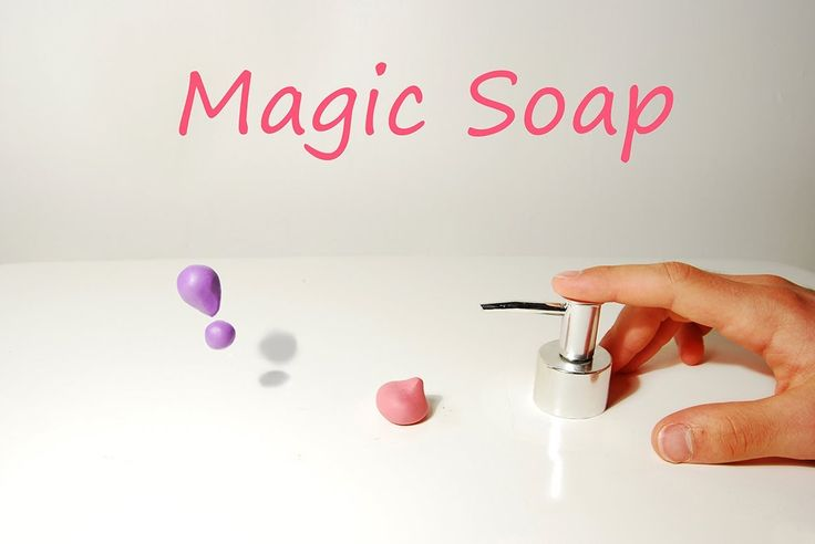 In this animation a person discovers magic soap and finds out what it does.