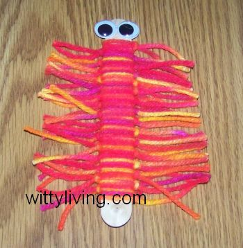 Caterpillar Bookmark kids Craft VBS idea - Bugs and Butterflies