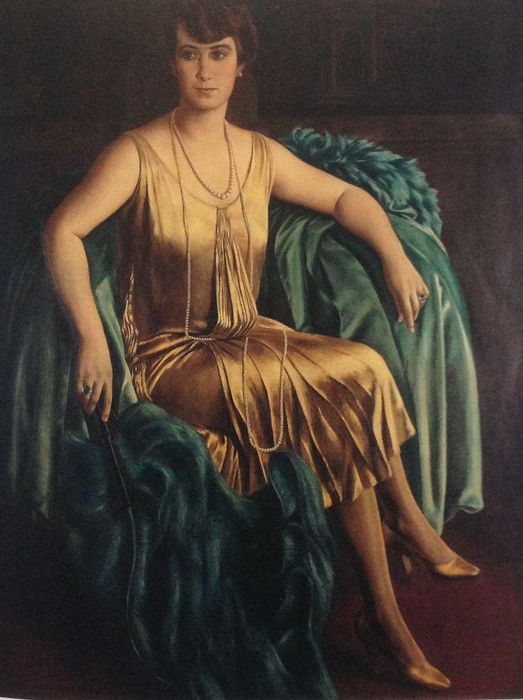 Ubaldo Oppi Ritratto della signora Alma Giavi Leone,1926. Olio su tela cm 152x122