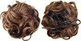 Hair Bun Updo Hairpiece Hair Ribbon Ponytail Hair Extensions Wavy Curly Messy Hair Bun Extensions Donut Hair Chignons Hair Piece Wig Hairpiece Scrunchy Scrunchie Bun Color M4/30#