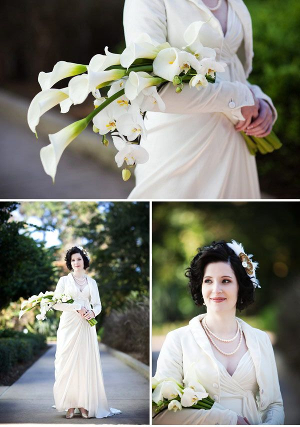 Vintage Cascading Presentation #bridalbouquet inspired by the 1930s 1920s Art Deco weddings