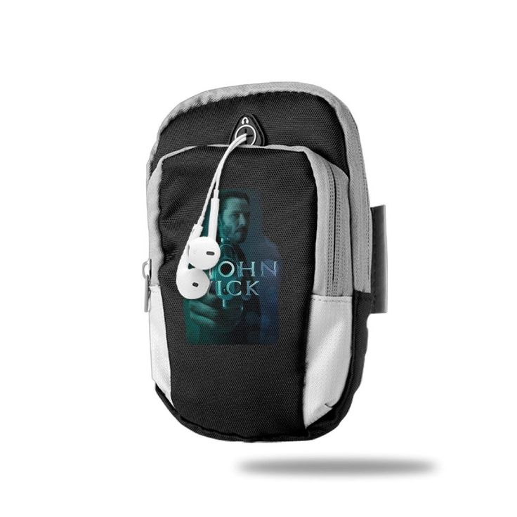 Sports Arm Bag John Wick Keanu Reeves Black. 100% Polyester Fiber. Convenient To Place Your Cellphone, Earphone, Cable, Charger, Keys, ID Cards, Wallet, And Other. Height: 18 Cm, Width 9 Cm. Machine Washable And The Printing Will Not Fade. Imported.7-14 Working Days Delivery.