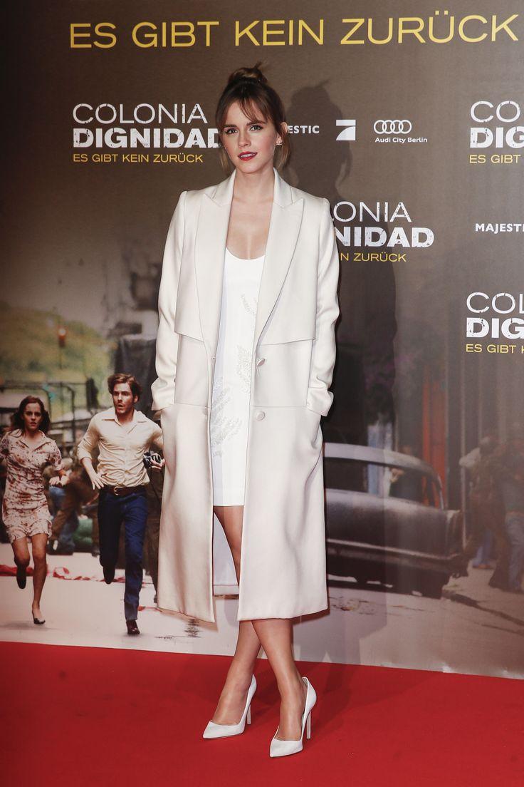 "Emma Watson - ""Colonia"" Berlin Premiere Hermione Granger / Hairstyle / Harry Potter / White Dress / Red Lipstick"
