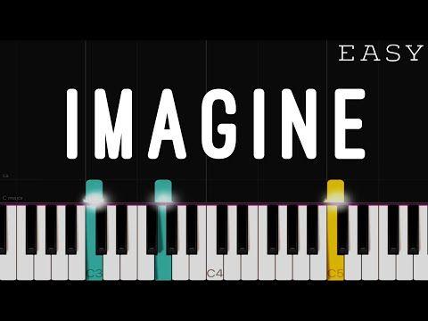 John Lennon Imagine Easy Piano Tutorial Youtube Piano Tutorial Easy Piano Songs Piano Tutorials