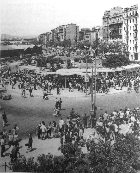 Barceloneta anys 60 Sembla final del Pg Jn de Borbó: