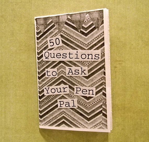 50 Questions to Ask Your Pen Pal (mini zine)