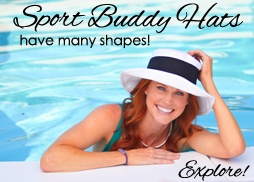 The Sport Buddy hat is solid canvas on one side with a pattern on the reverse side, and includes a colored sash. It is the best women's sun hat in the market for golf, sailing, hiking, beach, gardening, travel, convertibles, boating with a wide brim for sun protection. This is the hat you can't live without and the only hat that you will need.