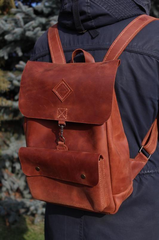 dea01d8dc7db Кожаный рюкзак. Эксклюзив! производства мастера CRAFT на платформе Crafta.  Купить хенд мейд Кожаный