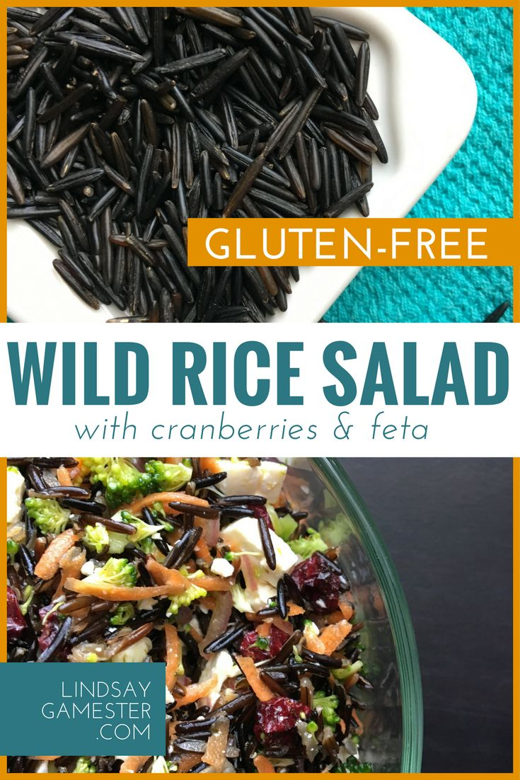 Gluten-Free | Vegetarian | Healthy Wild Rice Salad with Cranberries and Feta. Perfect side dish for potlucks.