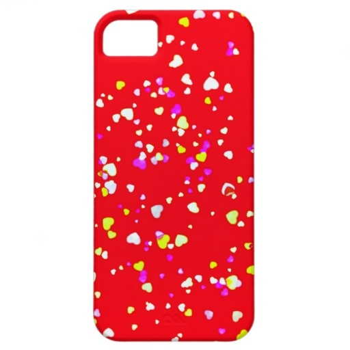 Girly Red Love Hearts by Greta Thorsdottir - iPhone5 Case iPhone 5 Covers from Zazzle